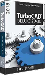 TurboCAD Deluxe 2018 DVD - Powerful 2D/3D CAD Software