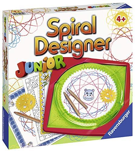 Ravensburger Spiral-Designer Junior 29699, Zeichnen lernen für Kinder ab 4 Jahren, Kreatives Zeichen-Set mit Schablonen für farbenfrohe Spiralbilder und Mandalas