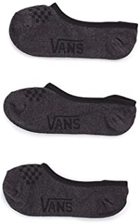 Vans Girls' No-Show Socks for Girls - Dark Grey - Girls' Shoe Size 1-6