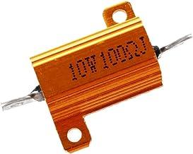 RETYLY 2 Stks 10Watt 100 Ohm Gold Tone Aluminium Gehuisvest Beklede Wirewound Weerstand
