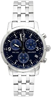 Tissot Men's T17158642 T-Sport PRC200 Chronograph Stainless Steel Blue Dial Watch