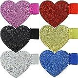Heart Pen Loop Colourful Glitter - 6pcs Adhesive Pen Holder...