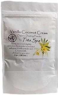Très Spa Vanilla Cream Dusting Powder - Organic Botanicals with Vanilla Bean & Coconut Cream | Natural Body Powder that is Talc Free, Clay Free, Non GMO (.5pt Bulk Bag)