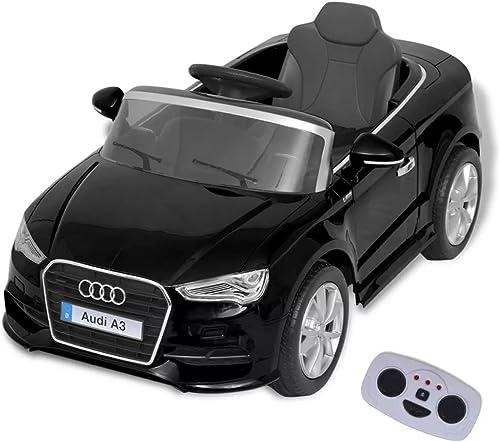 SENLUOWX Kinder-Aufsitzauto mit Fernbedienung Audi A3 SchwarzKinderauto Kinderfahrzeug
