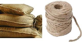 Sandsäcke Jute 20kg 30 x 60 cm 10er Pack Hochwasser Sandsack Dammschutz & Windhager Jute-Schnur Jutegarn Bindegarn Bindeschnur, natur, 4 mm x 50 m, 06158, beige