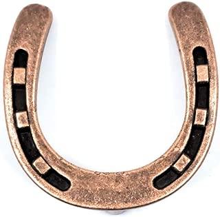 Set/8 Horseshoe Cabinet Knobs Copper Finish