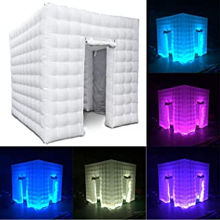 2.5x2.5x2.5M LED Photo Studio Inflatable Cube Air Photo Booth Tent 2 Door with Remote Controller for Wedding Party Christmas Event USA Stock