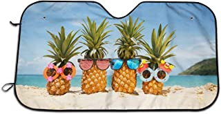 GOFLIES Beach Pineapple Windshield Sun Shades Visor Car Front Window Sunshade UV Protect