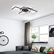 Ganeed Dimmable Ceiling Light,3 Squares Modern LED Ceiling Lamps with Remote Control,50W Acrylic Flush Mount Ceiling Light...