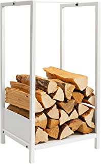 DOEWORKS Decorative Firewood Storage Log Rack Holder Heavy Duty for Indoor/Outdoor Fire Place