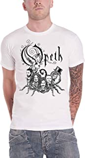 Opeth T Shirt Scorpion In Cauda Venenum Band Logo Official Mens White S