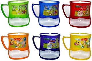 Perpetual Bliss Fancy Milk Mugs for Kids with Snacks Holder/Shakes/Juices|Coffee/Birthday Return Gifts (Pack of 12)