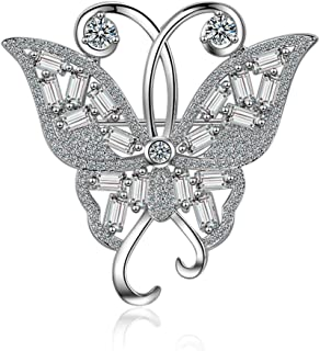 Silver Jewelry Brooch Fashion 925 Sterling Silver Animal Butterfly Shape Pins Brooches for Women Pin Broches