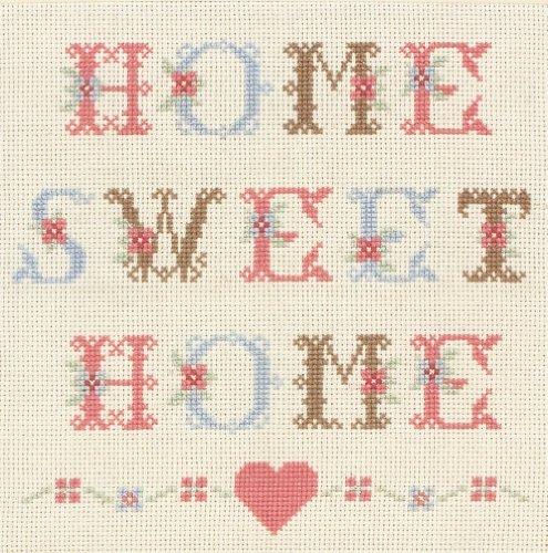 Anchor - Kit de Punto de Cruz, diseño con Texto Home Sweet Home