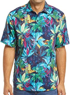 Tommy Bahama Fuego Palms Camp Shirt (Color: Ocean Deep, Size XL)
