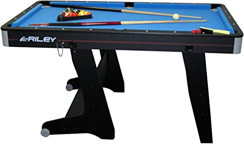 Riley - Table de Billard Domestique Pliable - Noir - 152 cm