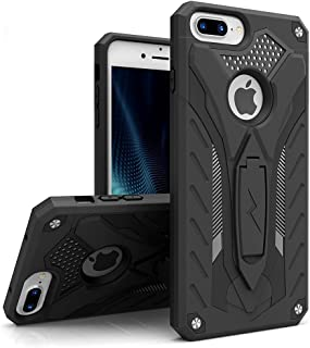 ZIZO Static Series Compatible with iPhone 8 Plus Case Military Grade Drop Tested with Kickstand iPhone 7 Plus iPhone 6s Plus Case Black Black