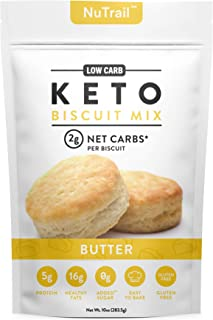 NuTrail™ - Keto Biscuits Mix - Low Carb Food - Easy to Bake - Perfect for Breakfast - Only 2g Net Carbs (Butter) (11.3 oz)...