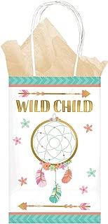 Amscan Boho Birthday Girl Wild Child Kraft Bag (8ct)