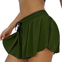 Jupe-Short d'entraînement pour Femme, Short de Course athlétique Taille Haute élastique de Style Simple pour Femme avec Sh...