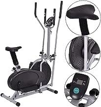 Gymax Air Fan Bike, 2 in 1 Elliptical Fan Trainer Exercise Bike Indoor Home Cycling Fan Bike Exercise Machine