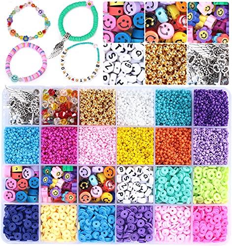 Tacobear 11553pcs Cuentas de Colores Abalorios para Hacer Pulseras Collares Pequeñas Cuentas de...