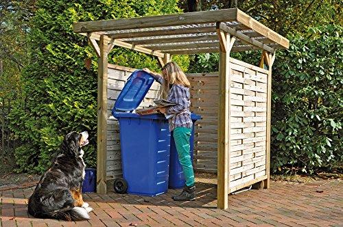 GreenSeason Mülltonnen-Box Holzunterstand Mülltonnenhäuschen Bikeport