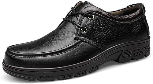 Fuxitoggo Chaussures de Marche Rue rétro rétro rétro décontractées pour Hommes (Couleuré   Noir, Taille   10.5 UK) 32f