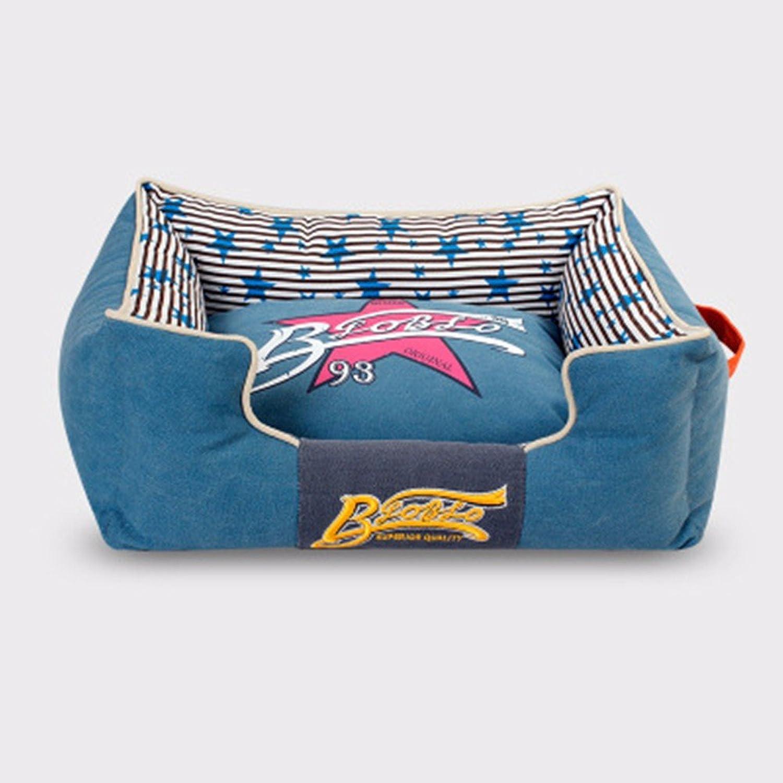 KAI Dog Mat Dog Beds Cat Beds Pet kennel cat staccabile grande cane pet,S:50 *40 *17CM,blue