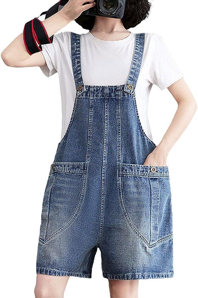 chouyatou Women's Summer Cute Adjustable Many popular brands Straps Bib shipfree O Jean Denim