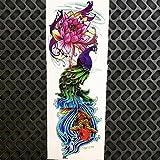 HXMAN 3 Unids Negro Brazo Completo De Agua Transfer Tatuaje Pegatinas Mujeres Hombres Cuerpo Arte Piernas Temporal Tatuaje Paste Gqb-008 Grande Falso Tatoo Robot Brazo GQB058