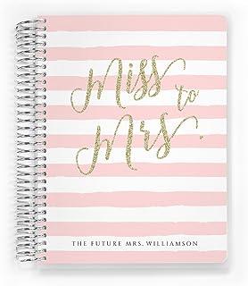 $53 » Customized Wedding Planner, Custom Engagement Gift, Wedding Organizer, Bride Planner, Miss to Mrs Wedding Planner, 6 inch ...