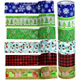 Iconikal Christmas Style Printed Duct Tape, 2 inch x 10 Yard, 12-Pack