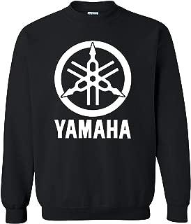 White Yamaha Racing Black Long Sleeve TEE YZF R1 R6 YFZ Banshee Unisex Crewneck Sweatshirt TeeHeavyweight Crewneck Sweatshirt