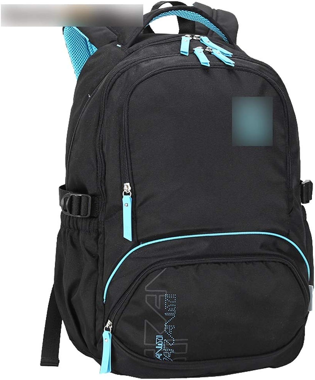 LiPengTaoShop Rucksack Korean Style Freizeitreiserucksack Mnner und Frauen Rucksack groe Kapazitt Studententasche A++ (Farbe   schwarz, Größe   49  34  20cm)