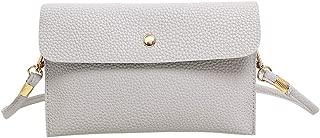 Kwok Womens Leather Crossbody Bag Pure Color Shoulder Bags Messenger Bag Coin Bag Crossbody Bag Wallet Mobile Phone Bag
