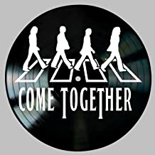 Come Together Song Lyric Art inspired by The Beatles on a Vinyl Record Album Wall Decor
