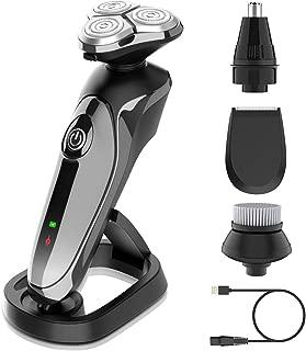 Electric Razor for Men- 4 in 1 Nose Hair Trimmer, Facial Cleansing Brush, Beard Trimmer, Mane...