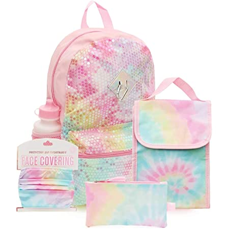 2 Piece Set Fuel Water Resistant Durable Backpack with Insulated Lunch Bag