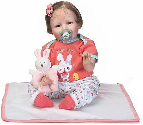 Broadroot Reborn Baby mädchen simuliert Puppe Weiße Silikon Fotografie Prop Geburtstag Geschenk mit Haare Spielzeug