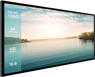 Projector Screen,Houzetek 120 Inch Ambient Light Rejecting Screen Indoor Outdoor Projection Movie Screen Diagonal 16:9 Aspect Ratio, 4K Ultra HD Home Cinema Theater, 6 Piece Fixed Frame, 1.1 Gain
