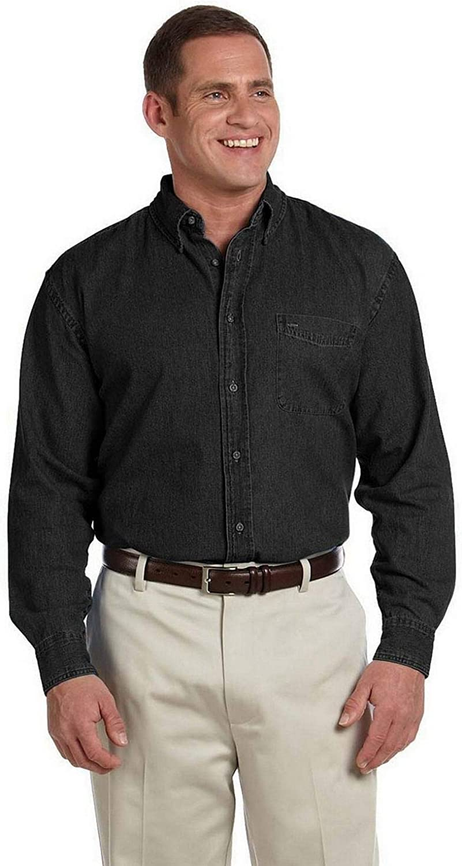 Harriton Tall 6.5 oz. Long-Sleeve Denim Shirt (M550T)