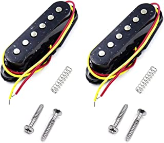 GooTon 2Pack Alnico 5 Single Coil Flat Pole Pickup Guitar for Strat Squier Electric Guitar