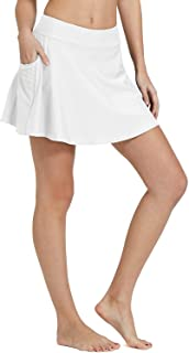 Women's High Waisted Swim Skirt Bikini Tankini Bottom with Side Pocket