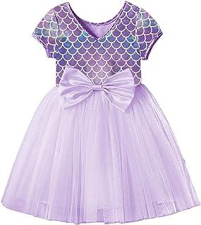 VIKITA Toddler Flower Girl Dress Winter Long Sleeve Tutu Party Dresses for Girls 3-7 Years, Knee-Length