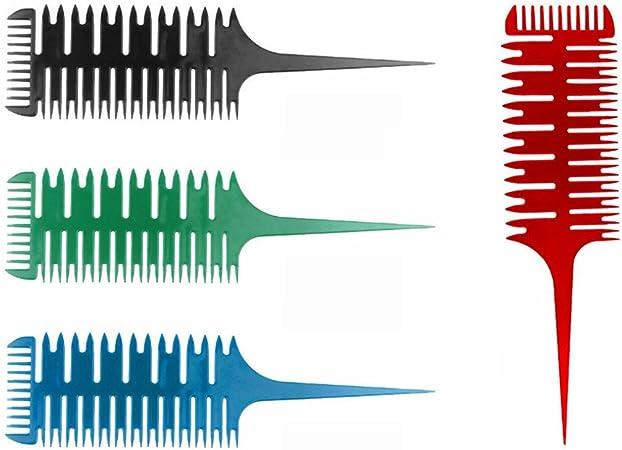 VANKER Unisex Peine Comb Cepillo plástico de peluquería_Verde