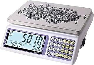 HYY-YY Báscula electrónica de precisión 0,1 g de recuento de hardware de muestreo de punto, escala industrial, báscula de tornillo balanza báscula balanza electrónica