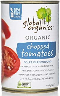 Global Organics Chopped Tomatoes, 400 g