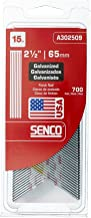 Senco A302509 15 Gauge by 2-1/2-Inch Electro Galvanized Finish Nail