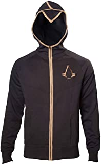 Assassin's Creed Hoodie Syndicate Bronze Logo Official Mens Black Zipped